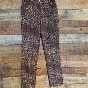Les Copains  leopard jeans size 10/44